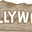 Hollywood Sign — Stock Vector
