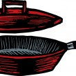 Skillet with Lid — Vector de stock #29846921