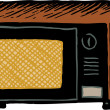Stock Vector: Microwave Oven