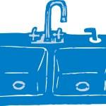 Woodcut Illustration of Kitchen Sink — Stock Vector #29847671