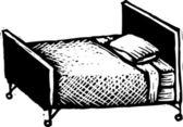 Vector Illustration of Hospital Bed — Stock Vector