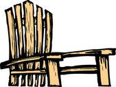 Adirondack Chair — Stock Vector