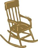 кресло-качалка — Cтоковый вектор
