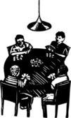 Juego de poker — Vector de stock