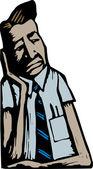Unhappy Businessman — Stock Vector
