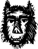 Illustration of Wolfman — Stock Vector