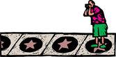 Illustration of Hollywood Movie Star Walk — Stock Vector