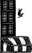 Illustration of Hollywood Stuntman — Stock Vector