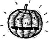 ксилография иллюстрации икона джек-o ' фонарь — Cтоковый вектор