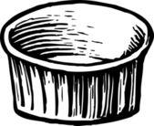 Custard Cup — Stock Vector
