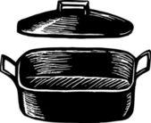 Roasting Pan — Stock Vector