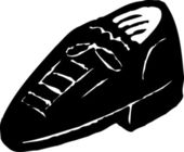 Woodcut Illustration Icon of Shoe — Stockvector