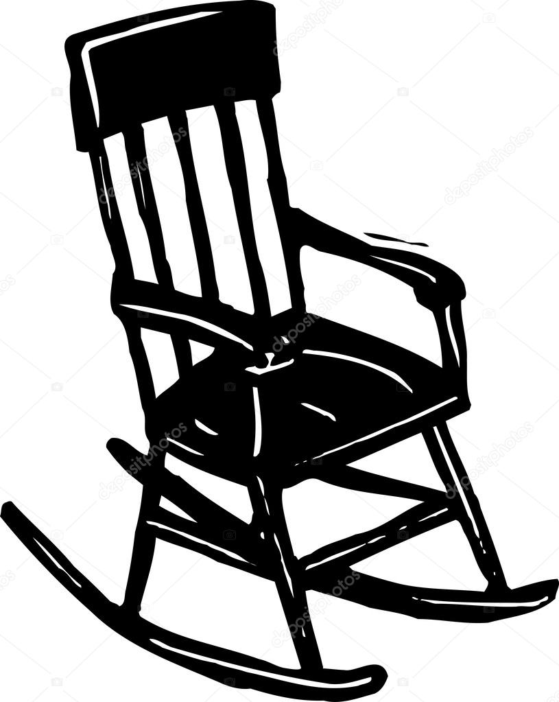 rocking chair stock vector ronjoe 29844345. Black Bedroom Furniture Sets. Home Design Ideas