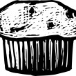 Woodcut illustration of Muffin — Stock Vector #29889293