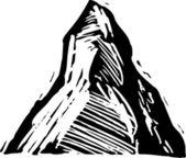 Woodcut Illustration of Matterhorn — Stock Vector