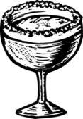 ксилография иллюстрация маргарита — Cтоковый вектор