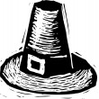 Woodcut Illustration of Pilgrim's Hat — Stock Vector #29891455