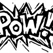 Stock Vector: Woodcut Illustration of Pow! Word Design