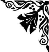 Holzschnitt-abbildung für botanische grafik verzierung — Stockvektor