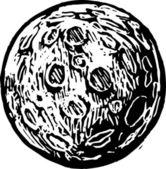 Houtsnede illustratie van planeet x — Stockvector