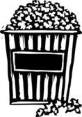 Woodcut Illustration of Popcorn — Stock Vector