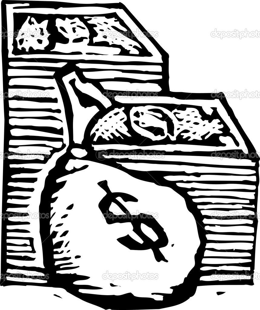 Woodcut Illustration of Stacks