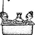 Senior Couple Taking Bath Together — Stock Vector #30501517