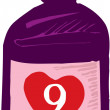 Stock Vector: Love Potion