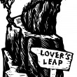 Lover's Leap — Stock Vector