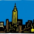 New York City — Imagen vectorial