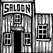 Vector Illustration of Old West Saloon Building — Stock Vector