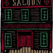 Old West Saloon Building — Stock Vector