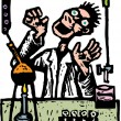 Stock Vector: Mad Scientist