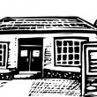Senior Citizen Home — Imagen vectorial
