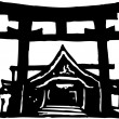 Vector Illustration of Shinto Shrine — Stock Vector #30503283