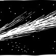 Woodcut Illustration of Comet — Stock vektor