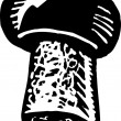 ストックベクタ: Woodcut Illustration of Cork Wine Stopper
