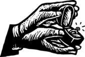 Przytrzymanie pudełko z pierścionek zaręczynowy ręce człowieka — Wektor stockowy