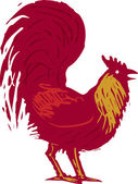 Illustration of Rooster — Stock Vector