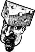 Wisconsin Cheese Head — Stock Vector