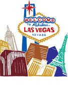 Las Vegas — Stock Vector