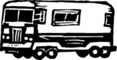 Vector Illustration of RV or Recreational Vehicle — Vector de stock