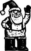 圣诞老人挥舞着 — 图库矢量图片