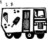 Vector Illustration of Ice Cream Truck — Stock Vector
