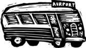 Vector Illustration of Shuttle Bus — Stock Vector