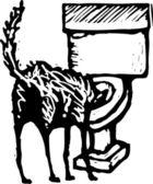 Vektor-illustration von slurp — Stockvektor