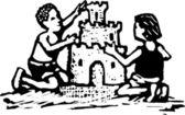 Vector illustration of Sand Castle — Stock Vector