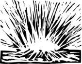 Meteor Impact — Stock Vector