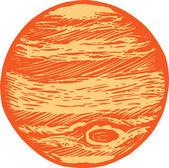 Illustration of Jupiter — Stock Vector