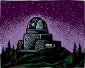 Illustration of Observatory — Stockvektor